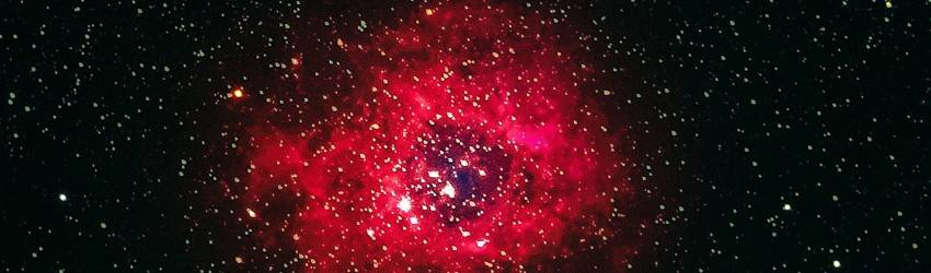 A red representation on Chiron in space.