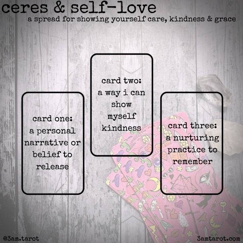 ceres self love tarot spread