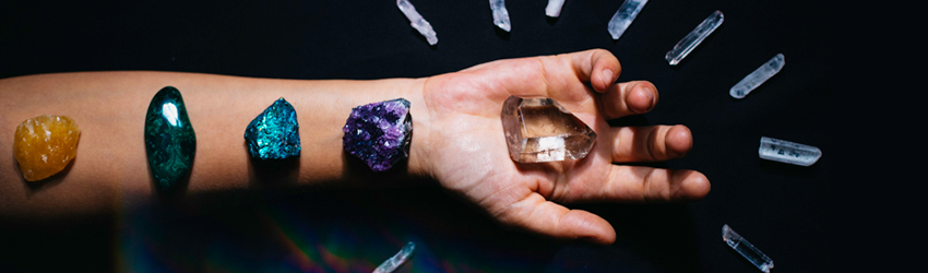 Crystals on an arm that are good for Aquarius.