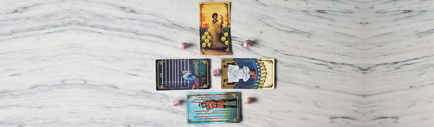 The 9's in a Tarot deck.