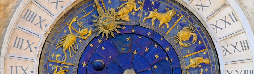The Astrology clock shows that it is Libra season and it is almost Scorpio Season - the zodiac seasons that happen in October 2020.