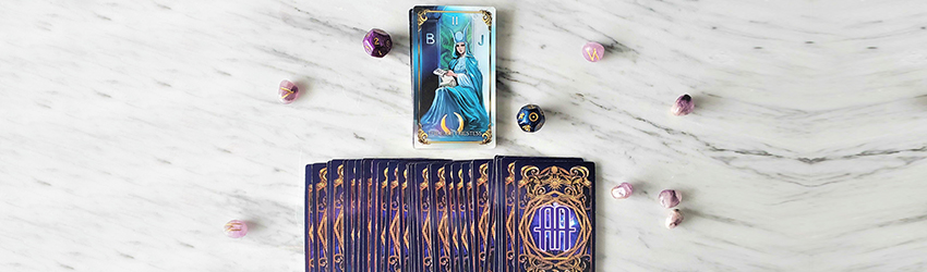 February tarotscopes displayed with the Astrology Answers Master Tarot Deck