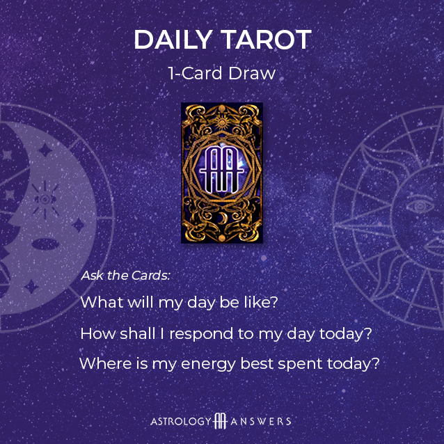 A Daily tarot draw tarot spread from astrology answers.