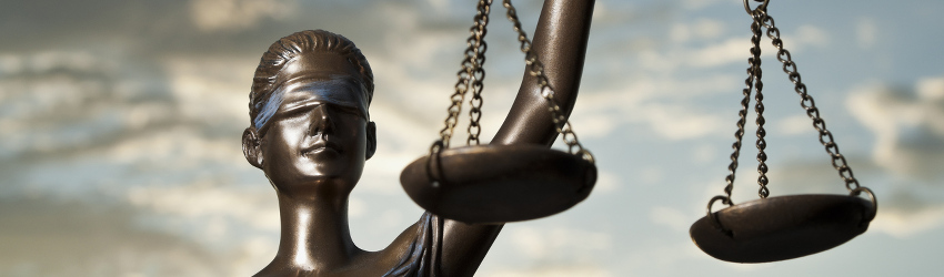 A libra symbol holding the scales of justice.