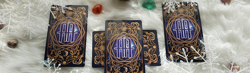 New Moon in Capricorn Tarot Spread shown with the Astrology Answers Master Tarot Deck on white faux fur.