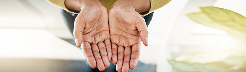 A person holds out their palms for a tarot reading. What do their palms say?