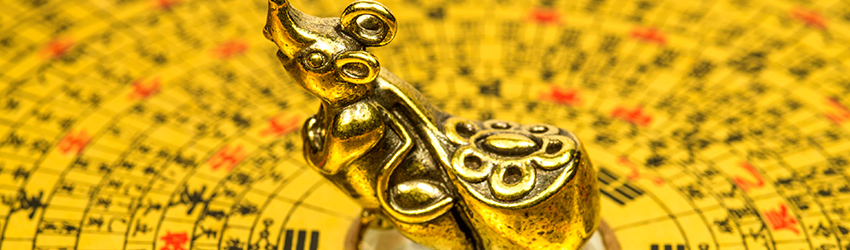 Year of the rat golden statue.